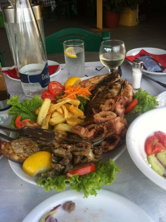 Platanias, Yunanistan: riblji mix je odličan izbor