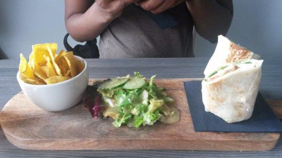 Brightlingsea, UK: chicken wrap
