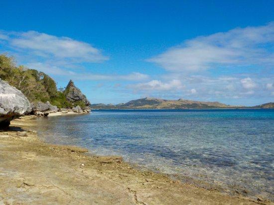 Yasawa Islands, Fidschi: The beach below
