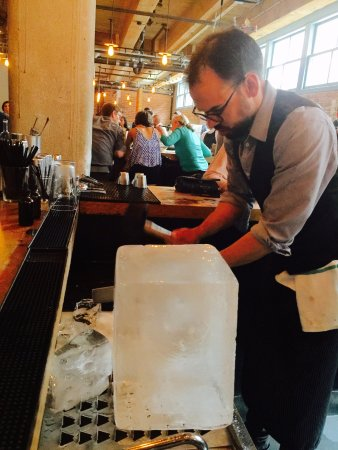 Drink: It all starts with a big block of ice.