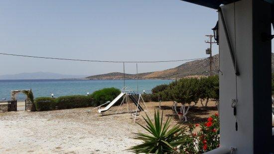 Agiassos, Yunani: Vista dalla sala ristorante