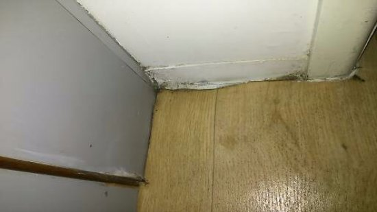 NRMA Treasure Island Resort & Holiday Park: in the living room/beedroom area just outside the bathroom door.. so filthy