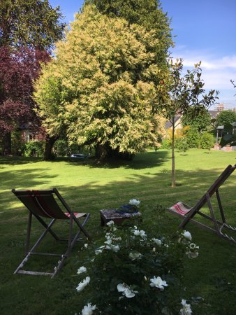 La Maison du Parc: the backyard