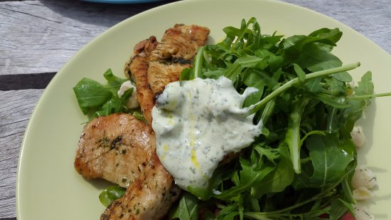 Weston on the Green, UK: Grilled Chicked with pesto Mayo