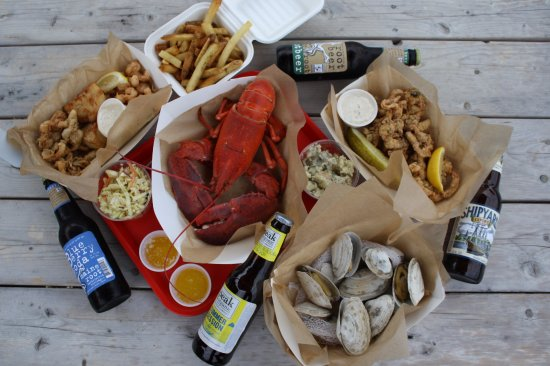 Tenants Harbor, ME: A spread of Maine fare.