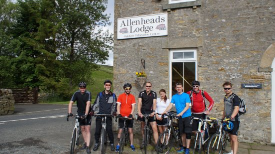 Allenheads Lodge: The morning we set off.