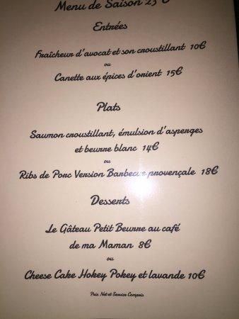 Courthezon, Frankreich: 23 euro menu