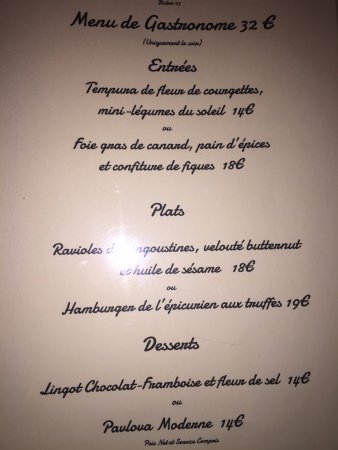 Courthezon, Frankreich: 32 euro menu
