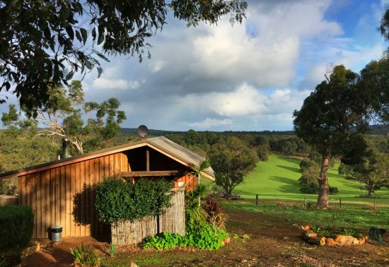 Wildwood Valley: This is Honeybee Cottage- private, warm, clean with incredible views.