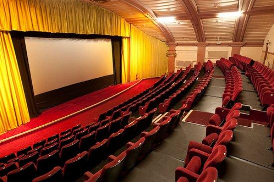 Whitehaven, UK : The classic, 1920s style cinema screen