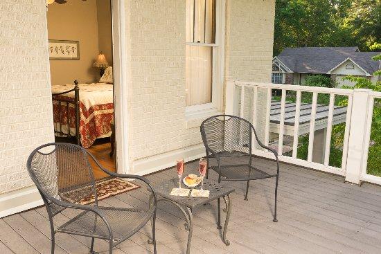 Jefferson, Teksas: Room 3 balcony