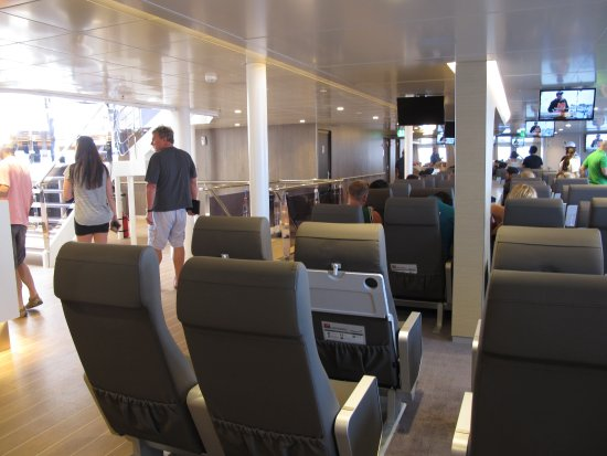 Poseidon Hotel - Suites: Interior of Ferry