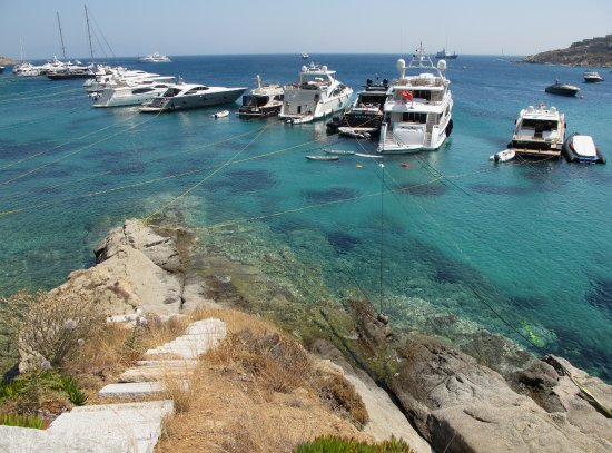 Poseidon Hotel - Suites: One yacht after another spied on Psarou Beach!
