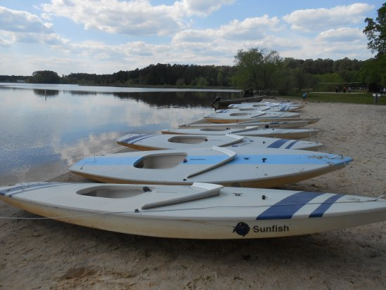 Lake Crabtree County Park: More boats
