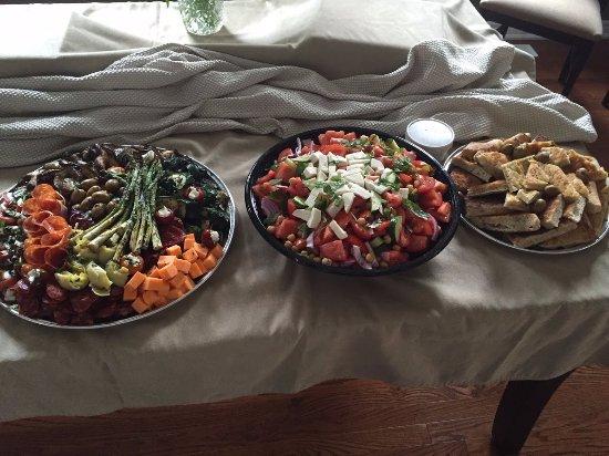 Nonna's Oven: Antipasto Platter, Tomato Platter and FRESH BAKED FOCCACIA