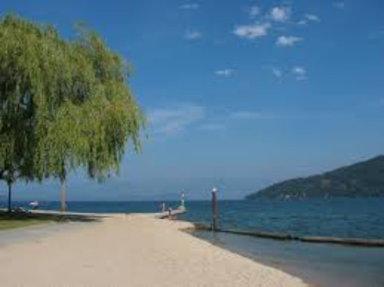 Sandpoint, ID: Relax under the shade of a willow tree at City Beach.