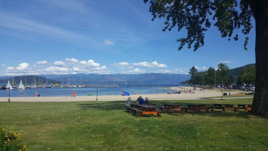 Sandpoint, ID: A great place to watch the grandchildren play.