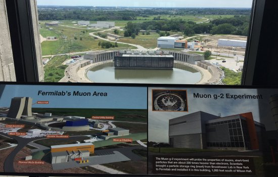Fermi National Accelerator Laboratory: Muon Area view from 15th floor of Wilson Hall