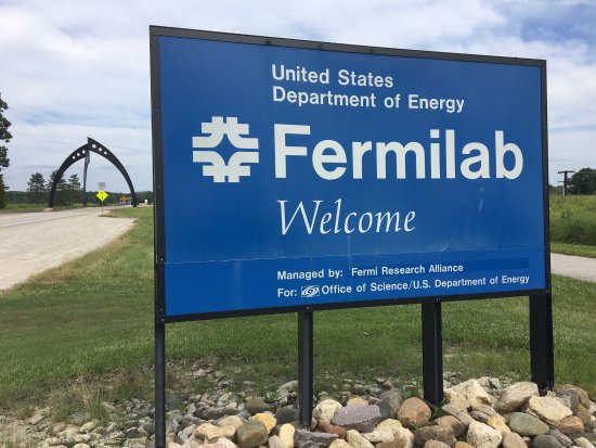 Fermi National Accelerator Laboratory: sign at entrance