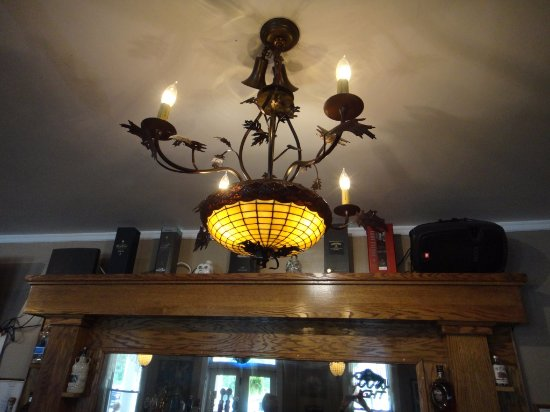 Thendara, NY: LOVE this light fixture... hanging over the bar