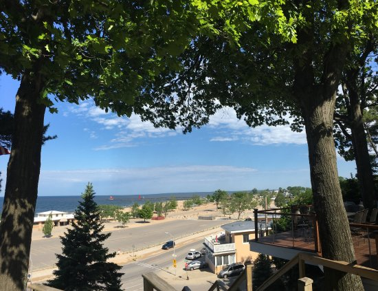 The Looking Glass Inn: This amazing view is from the patio!