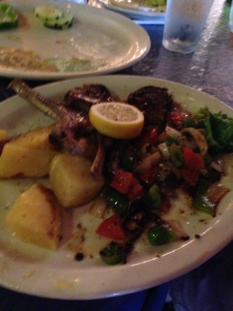 Opa! Greek Cuisine and Fun: our lamb dish with lemon potatoes