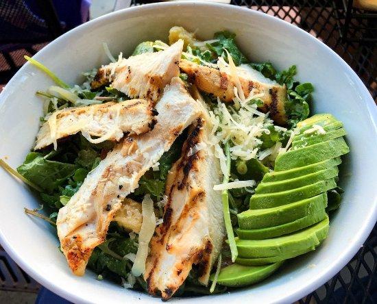 San Rafael, CA: Kale Ceasar (with added chicken) salad