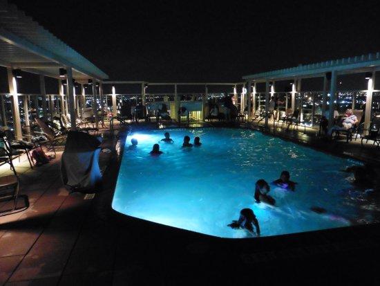 Drury Plaza Hotel San Antonio Riverwalk Roof Top Pool At Night