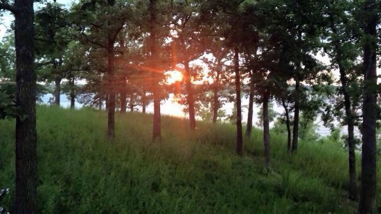 Pittsburg, MO: Sunset from our site and site 314