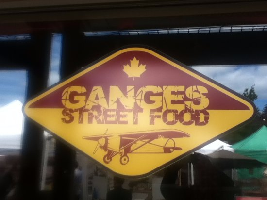 Ganges Street Food: Not quite sure why they have the Spirit of St. Louis on their logo...
