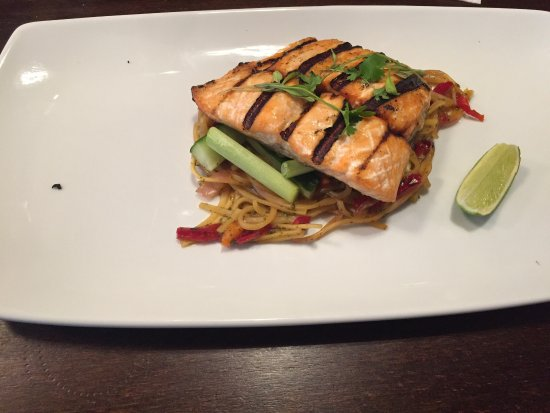 Grilled Salmon Supreme With Thai Noodles Looks Much Better On The