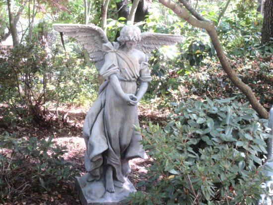 Angel Statue in Garden, Ironstone Vineyards, Murphys, CA