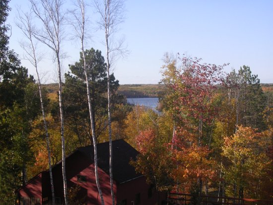 Iron River, WI: A nice view by Cabin #13.