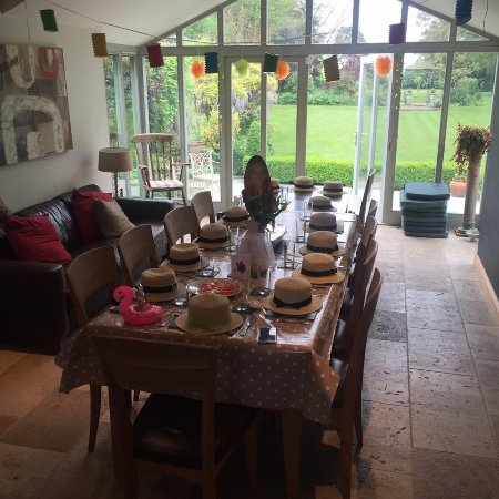 Fulbourn, UK: Ready for breakfast before punting