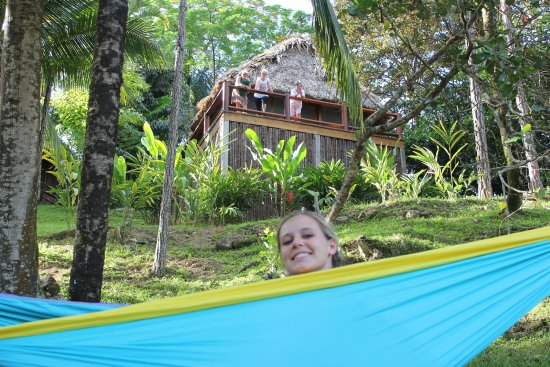 Blancaneaux Lodge: My daughter set up her Eno. But use bug spray!!!