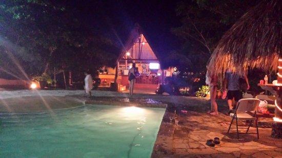 Mango Rosa Nicaragua: night swimming.