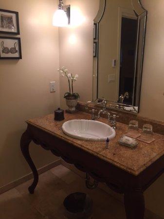 L'Auberge Carmel: Bathroom Sink Rm #14