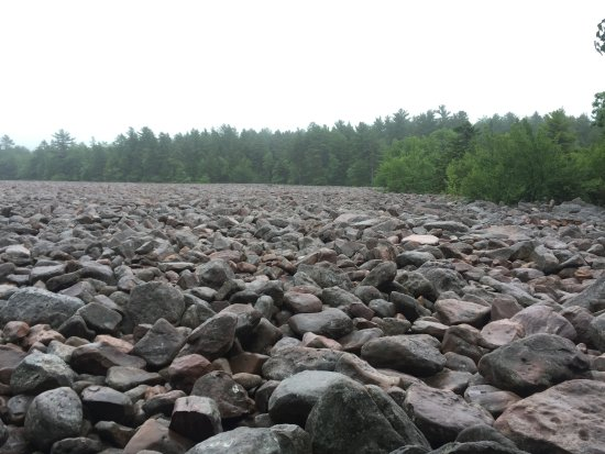 Boulder Field: It was raining when we were there, but still amazing!