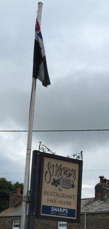 St. Mabyn, UK: Outside sign