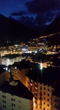 Panorama Hotel: Nighttime view from our room.