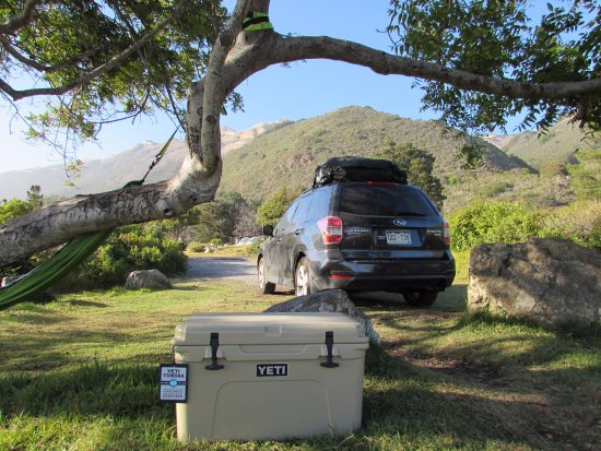Kirk Creek Campground: Site 009--great shade AND unobstructed ocean views