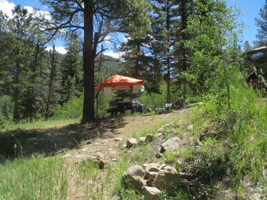 Vadito, Nuevo Mexico: One of the campsites