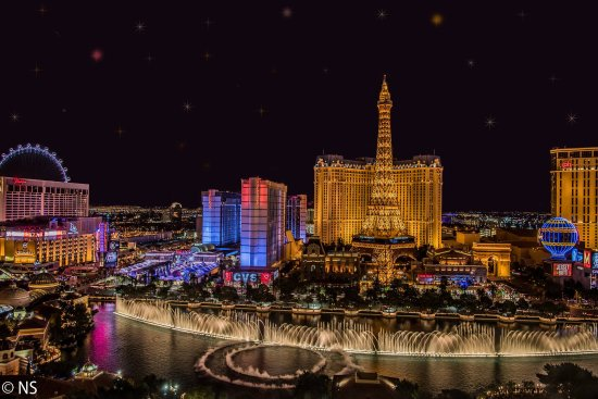 Beautiful Night View From The Fountain View Suite Picture