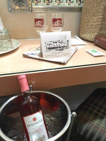 Hotel La Fonda de Taos: Anniversary gift from staff