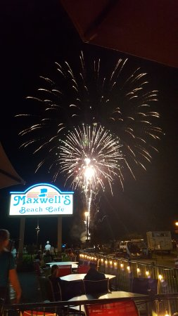 Arnolds Park, IA: View of the Fourth of July fireworks from the patio