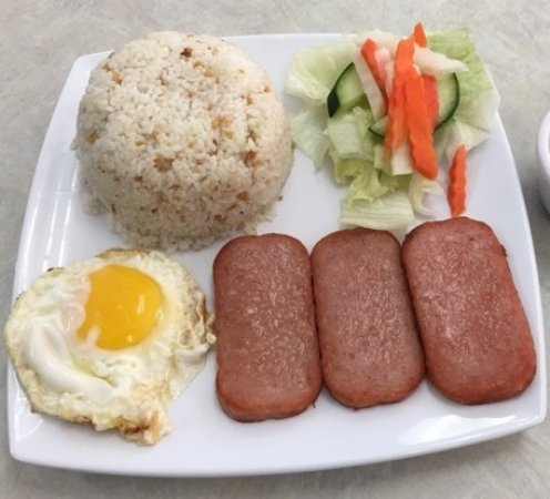 Milpitas, CA: SPAM & EGG WITH GARLIC FRIED RICE