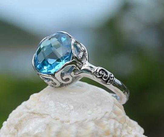 Vibe Collection Hampton Blue Topaz Princess Ring With Petro Setting