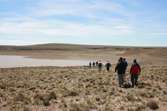 Province of Rio Negro, Argentina: Visitando la Laguna Blanca, donde estan los pozos que respiran