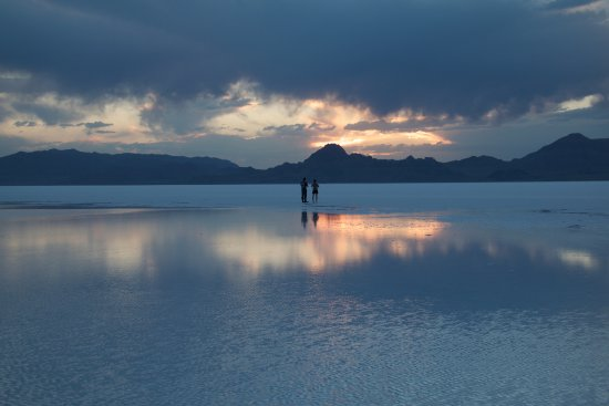 Sunset at Bonneville Salt Flats (Close to Rest Area on I-80 ...