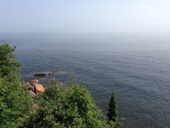 The Cliff Dweller on Lake Superior: View from our room